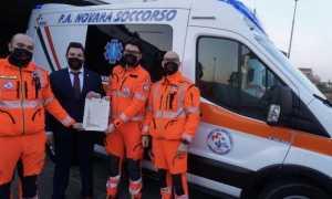 Volontari Novara Soccorso durante una premiazione 2